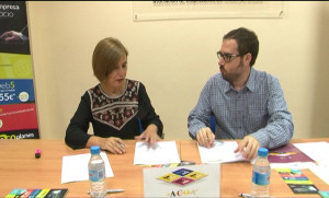 Olga Rojo y José Félix Criado, cabezas de ACOA y Ecoplanes respectivamente.