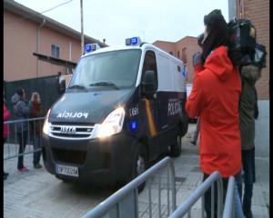 El furgón policial en el que se encontraban los detenidos