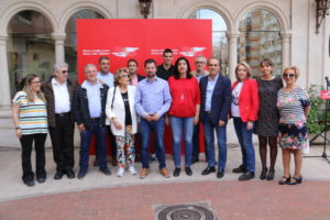 Acto de campaña del Partido Socialista en Aranda de Duero