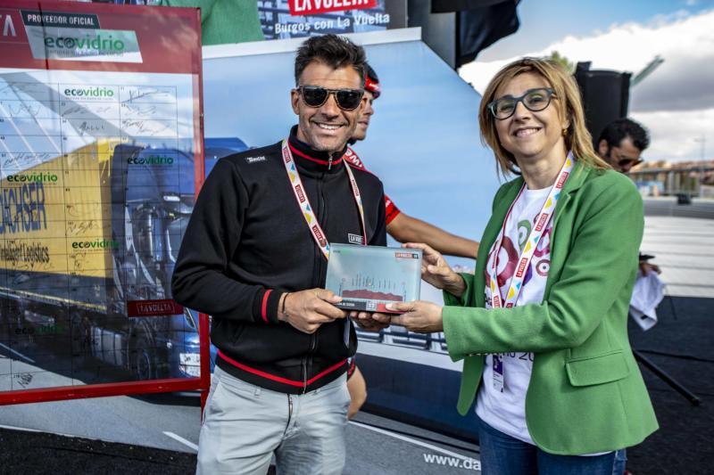 Alcaldesa de Aranda de Duero recibe el trofeo sostenible Ecovidrio