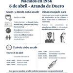 Aranda vacunará a las personas nacidas en 1956 el martes 6 de abril